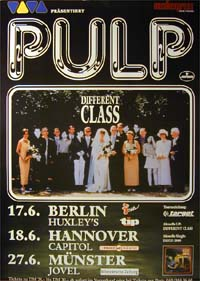 Pulp Different Class Tour POSTER 120601