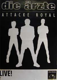 Ärzte Attacke Royal - Tour '98 POSTER 120606