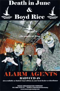 Death In June & Boyd Rice Alarm Agents - Promo CARD 140362